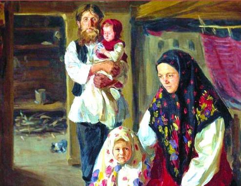 Muslim Family in North Caucasus