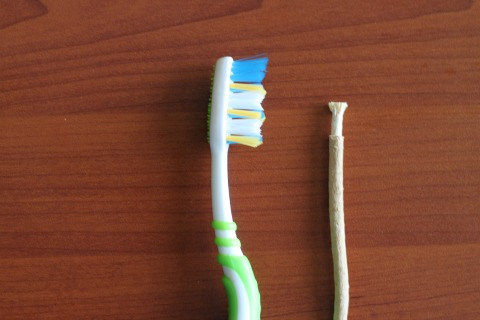 Miswak and Toothbrush